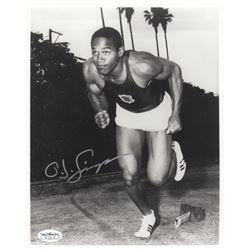 OJ Simpson Signed University of Southern California Photo