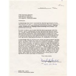Nancy Sinatra Signed CBS Contract