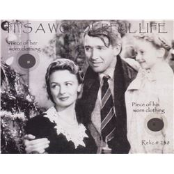 Original James Stewart & Donna Reed Wardrobe Fabric from It's a Wonderful Life