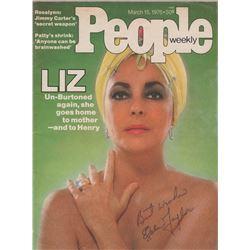 Elizabeth Taylor Signed PEOPLE Magazine