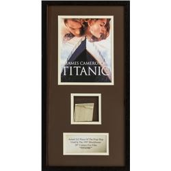 Original Piece of the Prop Ship from Titanic Framed Display