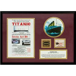 Authentic Original Coal from the RMS Titanic Framed Display