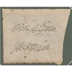 George Washington & Thomas Jefferson Cut Signatures
