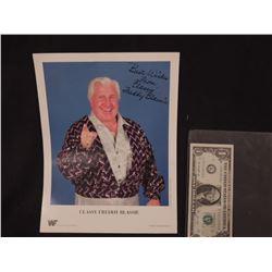 CLASSY FREDDIE BLASSIE VINTAGE HAND SIGNED WWF PROMO PHOTO