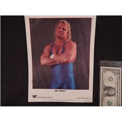 KURT HENNIG MR PERFECT VINTAGE HAND SIGNED WWF PROMO PHOTO
