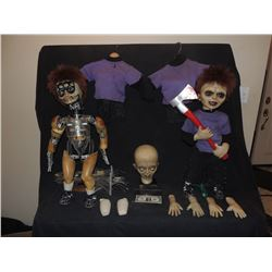SEED OF CHUCKY SCREEN USED & MATCHED HERO GLEN ANIMATRONIC PUPPET AND STATIC DOLL WITH EVERYTHING!
