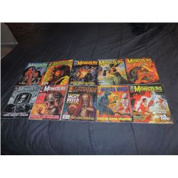 FAMOUS MONSTERS OF FILMLAND #250 - #282 LOT OF 10 ISSUES