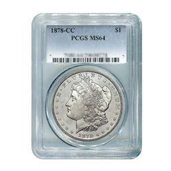 1878-CC $1 Morgan Silver Dollar PCGS MS64