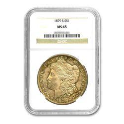 1879-S $1 Morgan Silver Dollar NGC MS65
