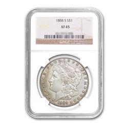 1888-S $1 Morgan Silver Dollar NGC XF45
