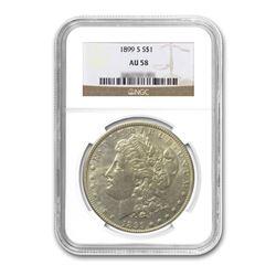 1899-S $1 Morgan AU58