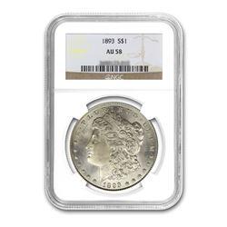1893 $1 Morgan AU58
