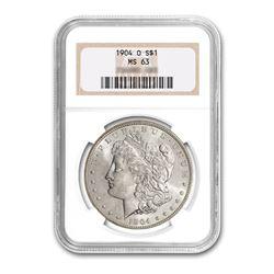1904-O $1 Morgan Silver Dollar - NGC MS63