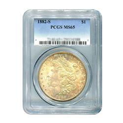 1882-S $1 Morgan Silver Dollar - PCGS MS65