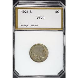 1924-S BUFFALO NICKEL PCI VF