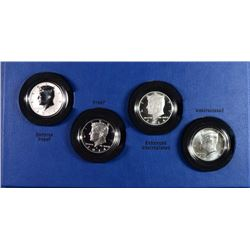 2014 50TH Anniversary Kennedy Half-Dollar 4 Coin Silver Set