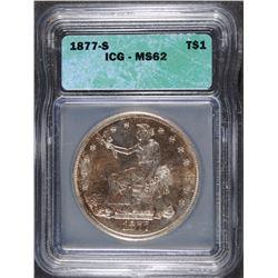 1877-S TRADE DOLLAR, ICG MS-62
