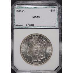 1881-O MORGAN SILVER DOLLAR, PCI GEM BU