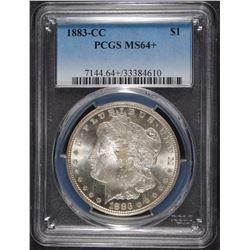1883-CC MORGAN SILVER DOLLAR, PCGS MS-64+