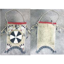 Arapaho beaded mirror bag