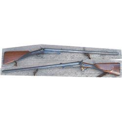 fine engraved underlever s/s shotgun