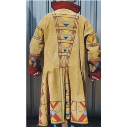 wool lined leather decorated mountain man coat, XL