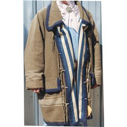 wool mountain man coat, hand stitched and cotton lined 3XL