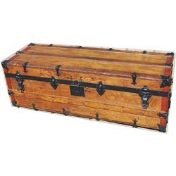 nice wooden trunk with tray