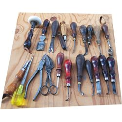 21 tools - awls, shears, edgers, creasers, etc