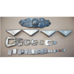 silver pieces - buckles, loops, ends, cantle plate