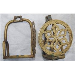 unusual brass stirrups