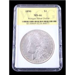 1890 Morgan Silver Dollar MS-66 Graded