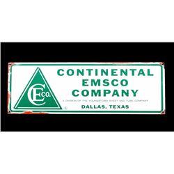 Continental Emsco Oil Porcelain Advertising Sign