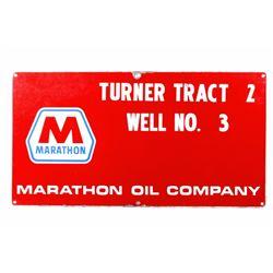 Marathon Oil Co. Turner Well Porcelain Sign