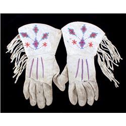 Northern Plains Beaded Gauntlet Gloves c. 1940