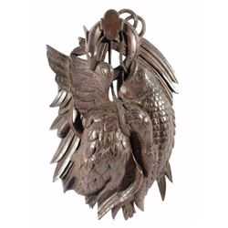 Black Forest Carved German Hunting Game Plaque