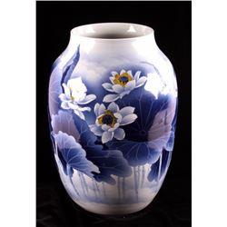 Antique Chinese Lotus Blossom Presentation Vase