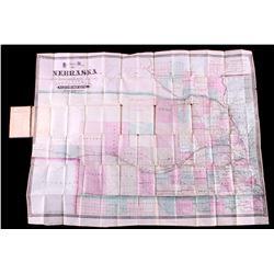 1871 Sectional Map of Nebraska & Dakota Territory