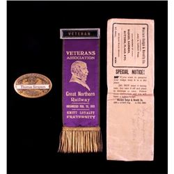 Great Northern Railway Veteran Ribbon and Button