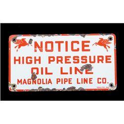 Mobil Magnolia Oil Double Pegasus Porcelain Sign