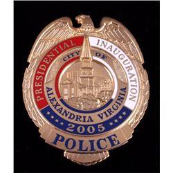 2005 Presidential Inauguration Badge Alexandria VA