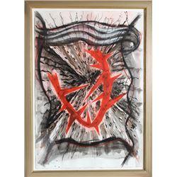 Gregory Amenoff, Expulsion, Mixed Media Painting