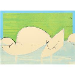 Dimitri Petrov, Cubist Nude, Lithograph