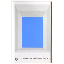 Josef Albers, Olympische Spielen Muenchen, Silkscreen Poster