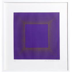 Richard Anuszkiewicz, Midnight (Purple with Silver), Etching