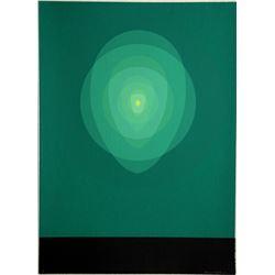 Clarence Holbrook Carter, Green Mandala, Silkscreen