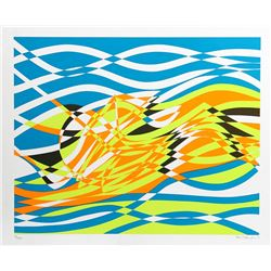 Stanley Hayter, Untitled 4, from the Aquarius Suite, Silkscreen
