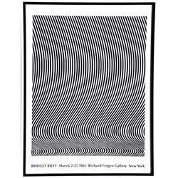 Bridget Riley, Richard Fiegen Gallery Exhibition, Poster