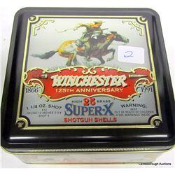 WINCHESTER 125TH ANNIVERSARY TIN