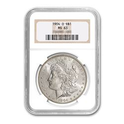 1904-O $1 Morgan Silver Dollar - NGC MS63